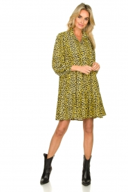 Notes Du Nord |  Panther dress Olivia | yellow  | Picture 3