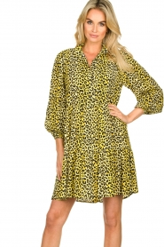 Notes Du Nord |  Panther dress Olivia | yellow  | Picture 5