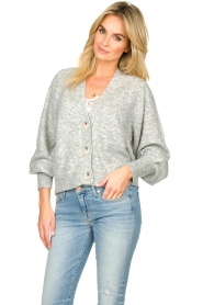 Notes Du Nord |  Puff sleeve cardigan Ozone | grey  | Picture 2