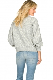 Notes Du Nord |  Puff sleeve cardigan Ozone | grey  | Picture 5