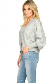 Notes Du Nord |  Puff sleeve cardigan Ozone | grey  | Picture 4
