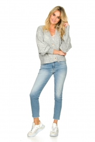 Notes Du Nord |  Puff sleeve cardigan Ozone | grey  | Picture 3