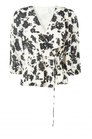 Notes Du Nord |  Printed wrap top Orchid | white  | Picture 1