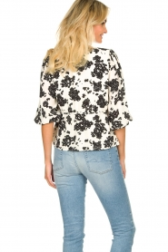 Notes Du Nord |  Printed wrap top Orchid | white  | Picture 6