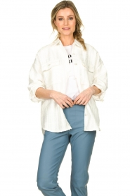 Notes Du Nord |  Blouse jacket Oconner | white  | Picture 3
