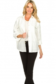 Notes Du Nord |  Blouse jacket Oconner | white  | Picture 2