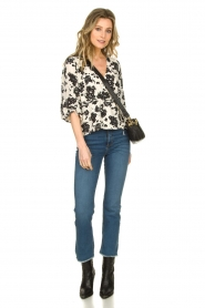 Notes Du Nord |  High waist cropped flare Ohio | blue  | Picture 3