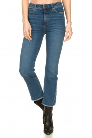 Notes Du Nord |  High waist cropped flare Ohio | blue  | Picture 2