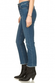 Notes Du Nord |  High waist cropped flare Ohio | blue  | Picture 4