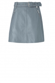 Notes Du Nord    Leather skirt Magnolia   blue    Picture 1