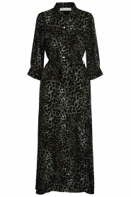 Sofie Schnoor |  Leopard printed maxi dress Lula | green  | Picture 1