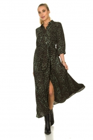 Sofie Schnoor |  Leopard printed maxi dress Lula | green  | Picture 2