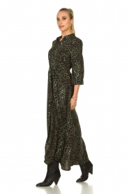 Sofie Schnoor |  Leopard printed maxi dress Lula | green  | Picture 5