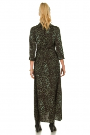 Sofie Schnoor |  Leopard printed maxi dress Lula | green  | Picture 6