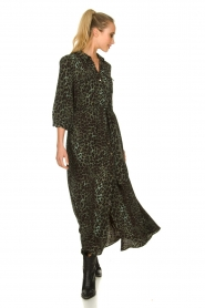 Sofie Schnoor |  Leopard printed maxi dress Lula | green  | Picture 4