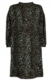 Sofie Schnoor |  Leopard printed tunic dress Kamille | green  | Picture 1