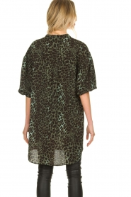 Sofie Schnoor |  Leopard printed tunic dress Kamille | green  | Picture 6
