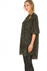Sofie Schnoor |  Leopard printed tunic dress Kamille | green  | Picture 5