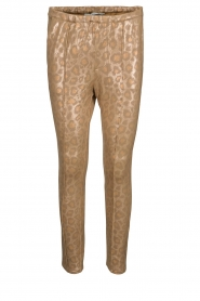 Sofie Schnoor |  Shiny leopard leggings Kaya | gold  | Picture 1