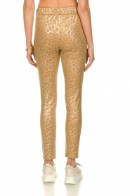 Sofie Schnoor |  Shiny leopard leggings Kaya | gold  | Picture 5