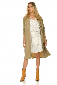 Sofie Schnoor |  Open coat Stine | beige  | Picture 3