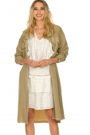 Sofie Schnoor |  Open coat Stine | beige  | Picture 2