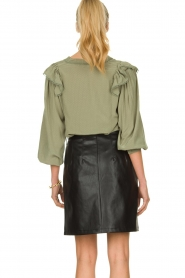 Sofie Schnoor |  Blouse with ruffles Pouline | green  | Picture 5