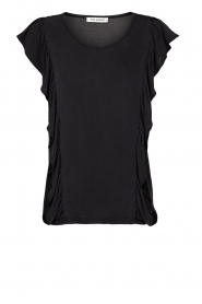 Sofie Schnoor |  Top with ruffle sleeves Mika | black  | Picture 1
