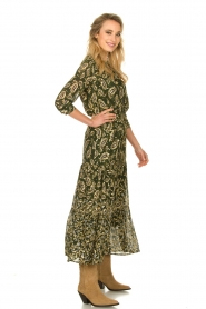 Sofie Schnoor |  Printed maxi dress Abbi | green  | Picture 4