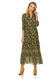 Sofie Schnoor |  Printed maxi dress Abbi | green  | Picture 3