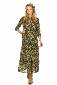 Sofie Schnoor |  Printed maxi dress Abbi | green  | Picture 2