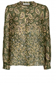 Sofie Schnoor |  Printed blouse Ciara | green  | Picture 1