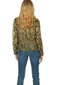 Sofie Schnoor |  Printed blouse Ciara | green  | Picture 5