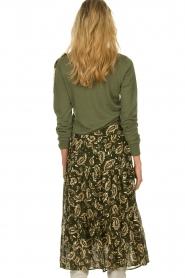 Sofie Schnoor |  Printed midi skirt Solvej | green  | Picture 5