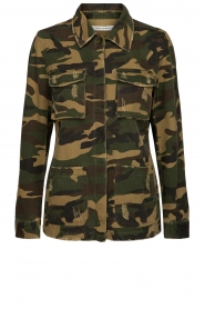 Sofie Schnoor |  Camo jacket Beate | green  | Picture 1
