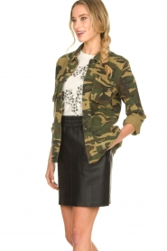 Sofie Schnoor |  Camo jacket Beate | green  | Picture 5