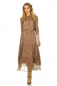 Sofie Schnoor |  Maxi dress with print Abbi | beige  | Picture 3