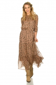 Sofie Schnoor |  Maxi dress with print Abbi | beige  | Picture 2