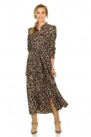 Sofie Schnoor | Maxi jurk met luipaardprint Lula | dierenprint  | Afbeelding 2