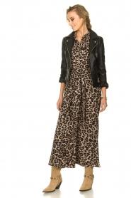 Sofie Schnoor | Maxi jurk met luipaardprint Lula | dierenprint  | Afbeelding 3