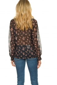 Sofie Schnoor |  Semi-sheer floral blouse Alvida | black  | Picture 5