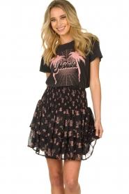 Sofie Schnoor |  Floral ruffle skirt Koralien | black   | Picture 2