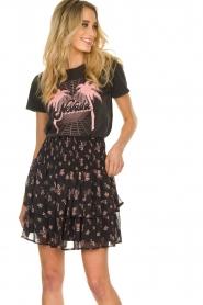 Sofie Schnoor |  Floral ruffle skirt Koralien | black   | Picture 4