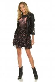 Sofie Schnoor |  Floral ruffle skirt Koralien | black   | Picture 3