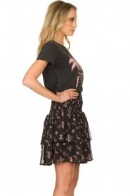 Sofie Schnoor |  Floral ruffle skirt Koralien | black   | Picture 5