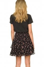 Sofie Schnoor    Floral ruffle skirt Koralien   black     Picture 5