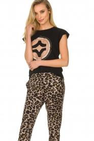 Sofie Schnoor |  T-shirt with print Nikoliene | black  | Picture 2