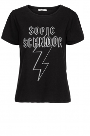 Sofie Schnoor |  Printed T-shirt Filicia | black  | Picture 1