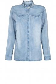 Sofie Schnoor |  Denim blouse Silke | blue  | Picture 1
