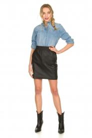 Sofie Schnoor |  Denim blouse Silke | blue  | Picture 3